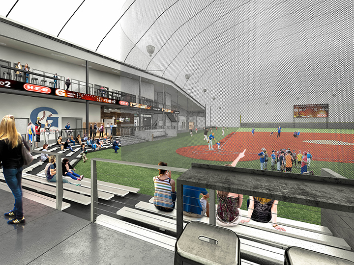 Indoor baseball academy mode design company for Design indoor baseball facility